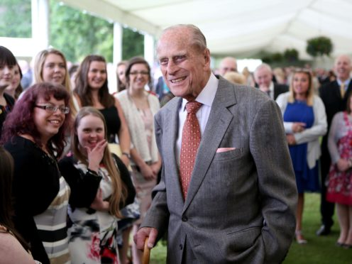 The Duke of Edinburgh attends the Presentation Reception for The Duke of Edinburgh Gold Award holders in the gardens at the Palace of Holyroodhouse in Edinburgh (Jane Barlow/PA)