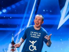 Lost Voice Guy during the audition stage for Britain's Got Talent (Tom Dymond/Syco/Thames/PA)