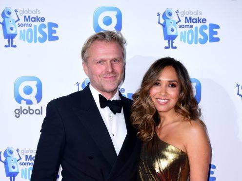 Simon Motson and Myleene Klass (Ian West/PA)