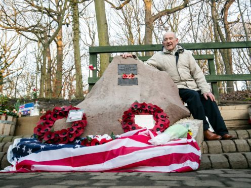 Tony Foulds at the memorial in 2019 (Danny Lawson/PA)