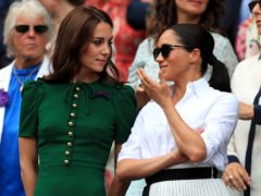 Kate and Meghan at Wimbledon in 2019 (Mike Egerton/PA)