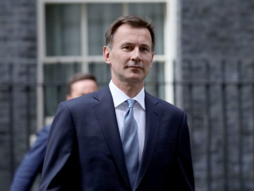 Ex-foreign secretary Jeremy Hunt (Aaron Chown/PA)