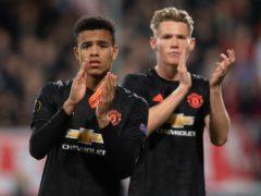 Scott McTominay, right, has hailed Manchester United team-mate Mason Greenwood (Joe Giddens/PA)
