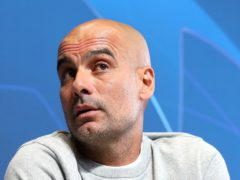Pep Guardiola is preparing to face PSG in the Champions League (Martin Rickett/PA)