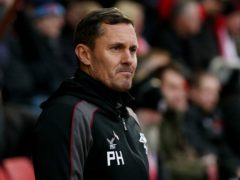 Paul Hurst was pleased with Grimsby's performance (Jonathan Brady/PA)