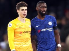 Chelsea team-mates Toni Rudiger, right, and Kepa Arrizabalaga, left, have made up after their spat in training on Sunday (Nick Potts/PA)