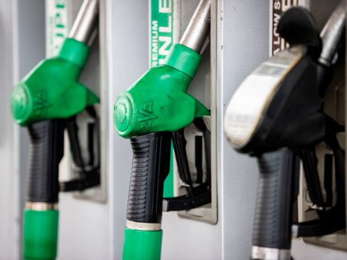 Rising fuel prices have reached pre-pandemic levels, hitting drivers venturing out on the roads over Easter (Liam McBurney/PA)