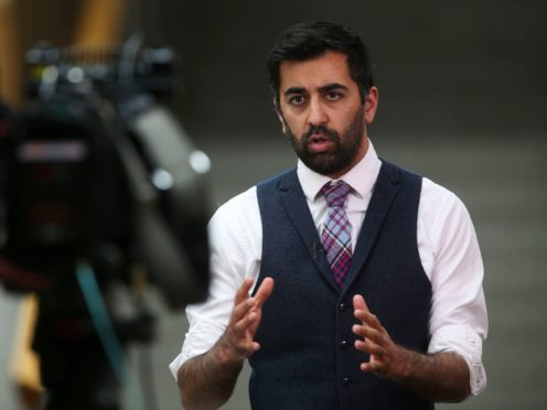 Humza Yousaf said the policy platform of the SNP is the 'most ambitious' of any party since devolution (Fraser Bremner/Scottish Daily Mail/PA)