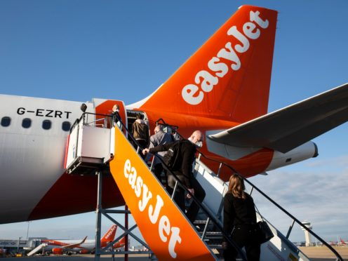 EasyJet boss Johan Lundgren urged the Government to put destinations such as Spain, Portugal and Greece in the lowest risk category (Matt Alexander/PA)