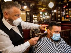 Barbers and hair salons are expected to reopen in Northern Ireland on April 23 (PA)