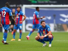 Joel Ward conceded a penalty in Crystal Palace's 2-1 loss to Everton on September 26 (Clive Rose/PA)