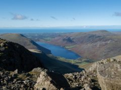 Repair work is starting this week on five sections of footpath on the most popular route up to the summit of Scafell Pike in the Lake District (Joe Giddens/PA)