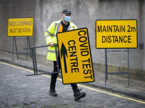 A further 231 people have tested positive for Covid in Scotland in the past 24 hours (Jane Barlow/PA)