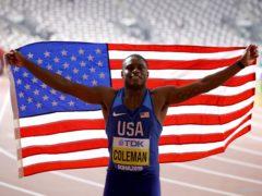 Christian Coleman will miss this year's Olympics (Martin Rickett/PA)