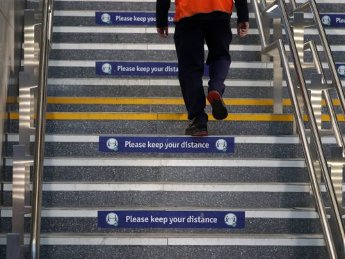 The recovery was made on Monday at Glasgow Queen Street station (Andrew Milligan/PA)
