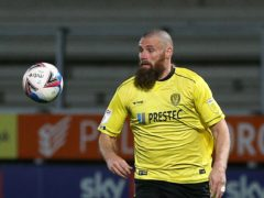 Burton defender Michael Bostwick's season has been ended by a calf injury (Nigel French/PA)