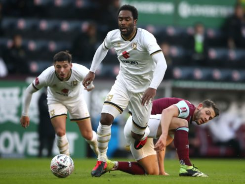 MK Dons' Cameron Jerome is concerned about the lack of progress against racism (Tim Goode/PA)