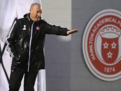 Disgruntled Hamilton boss Brian Rice, pictured, spoke to Crawford Allan (Jane Barlow/PA)
