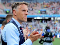 Phil Neville will lead Inter Miami for the first time in the MLS on Sunday (Richard Sellers/PA)
