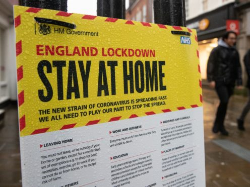 Just over half of people have managed to save during the lockdowns, the survey found (Andrew Matthews/PA)