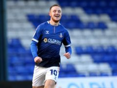Davis Keillor-Dunn scored two stoppage-time goals for Oldham (Tim Markland/PA)