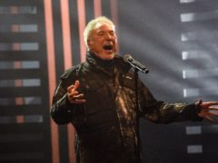 Sir Tom Jones performs during filming for the Graham Norton Show (Matt Crossick/PA)
