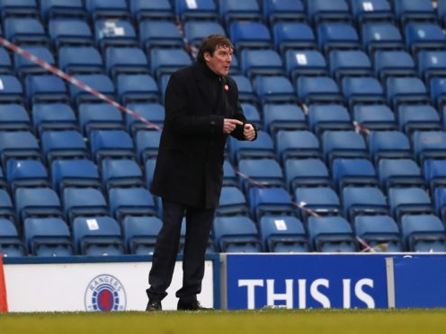 Kilmarnock manager Tommy Wright was unhappy with referee Don Robertson (Andrew Milligan/PA)