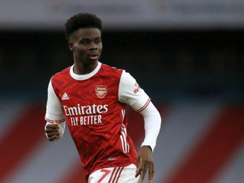 Bukayo Saka is a doubt for Arsenal (Kirsty Wigglesworth/PA)