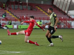 Ashley Nadesan (left) is a doubt for Crawley (Andrew Matthews/PA)
