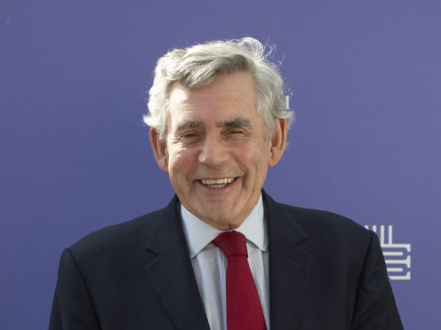 Gordon Brown was writing in the Daily Record on Monday (Jane Barlow/PA)