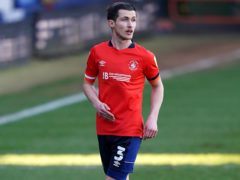 Luton could continue to be without Dan Potts for the game against Watford (Tess Derry/PA)