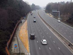The M3 smart motorway near Camberley in Surrey (Steve Parsons/PA)