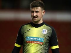 Scott Quigley's goal helped preserve Barrow's League Two status (Nick Potts/PA)