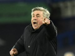 """Everton manager Carlo Ancelotti wants his players to be braver as they face a """"must-win"""" match at home to Crystal Palace (Peter Powell/PA)"""