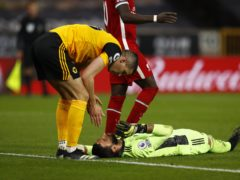 Rui Patricio was knocked out in a collision with Wolves team-mate Conor Coady (Jason Cairnduff/PA)