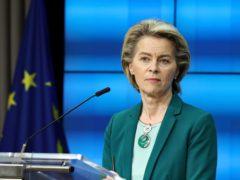 European Commission president Ursula von der Leyen (Aris Oikonomou, Pool Photo via AP)