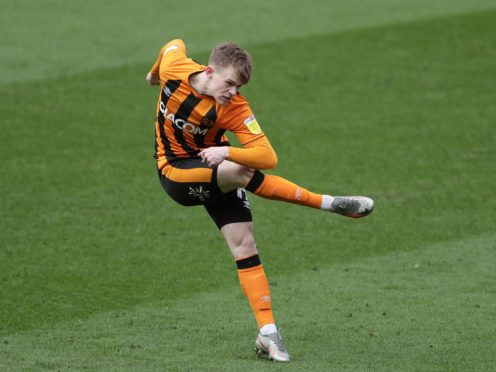 Keane Lewis-Potter scored one and made one in Hull's win (Richard Sellers/PA)