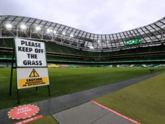 There is doubt whether the Aviva Stadium in Dublin will be able to welcome fans for Euro 2020 (Brian Lawless/PA)