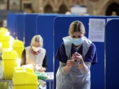 Coronavirus vaccines being prepared at Salisbury Cathedral (Steve Parsons/PA)
