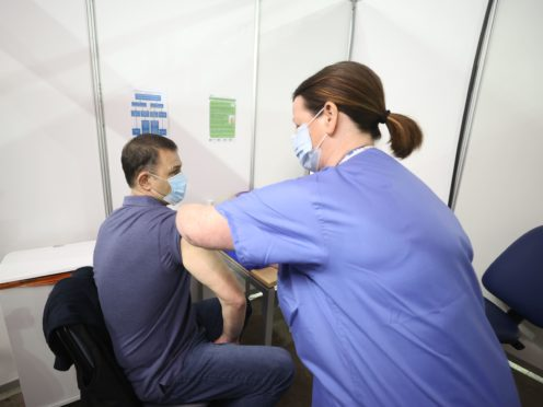 People in Northern Ireland in the 40-44 age group can book a Covid-19 vaccination from noon on Thursday (Liam McBurney/PA)