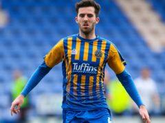Shrewsbury midfielder Sean Goss is unavailable (Barrington Coombs/PA)