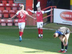 Alfie May scored for Cheltenham (David Davies/PA)