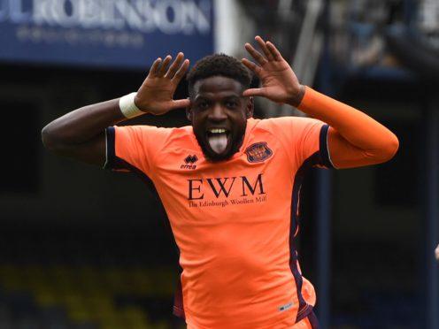 Carlisle forward Offrande Zanzala is an injury doubt (Kirsty O'Connor/PA)
