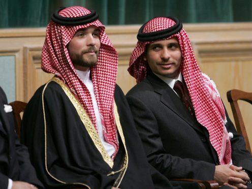 Prince Hamza Bin Al-Hussein, right, and Prince Hashem Bin Al-Hussein, brothers King Abdullah II of Jordan (AP/Mohammad abu Ghosh, File)