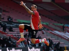 Danny Ings celebrates Southampton's equaliser against Burnley en route to a 3-2 comeback win (Glyn Kirk/PA Images).