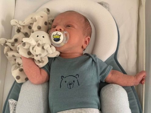 Undated handout photo issued by West Midlands Police of two-week-old baby, Ciaran Leigh Morris, who tragically died after his pram was hit by a car on Easter Sunday in Brownhills. Issue date: Monday April 5, 2021.