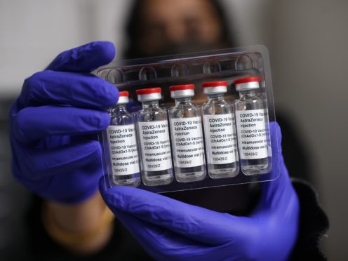 Vials of the Oxford/AstraZeneca coronavirus vaccine (Yui Mok/PA)