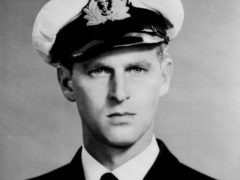 The Duke of Edinburgh as a lieutenant in the Royal Navy (PA)