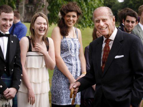 The duke attending a presentation reception for the Duke of Edinburgh's Gold Award holders (Danny Lawson/PA)