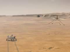 Nasa's Ingenuity helicopter is set for its first ever controlled flight on Mars (NASA/JPL-Caltech)